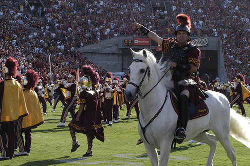 Traveler and Tommy Trojan