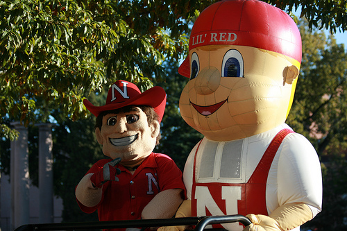 Herbie Husker and Lil Red